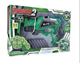 Pistola Dardos Nerf Hulk Advengers 2 Juguete Niño