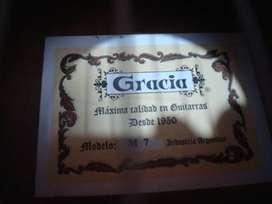 Guitarra Gracia M7 Nueva y funda! Oportunidad!