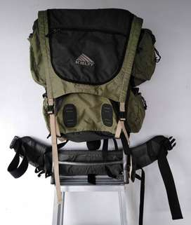 Mochila Senderismo Camping Kelty Trekker Marco Externo verde con negro Trail Talla 3