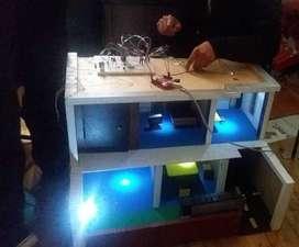 Maqueta Casa Automatizada (Arduino-Bluetooth-Android)