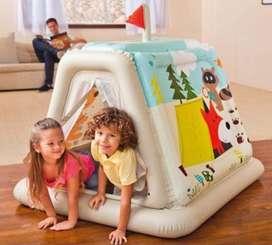 Casa Infantil Inflable Snow Intex NUEVO