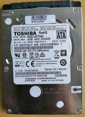 Disco duro interno Toshiba 500 GB portátil Sata