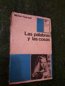 LIBRO  LAS PALABRAS Y LAS COSAS MICHEL FOUCAULT FILOSOFIA LETRAS  EN ESPAÑOL