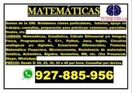 Profesor de Matemáticas-Ciencias-Informática UNI