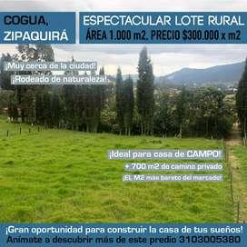 Venta Espectacular Lote Cogua, Zipaquirá
