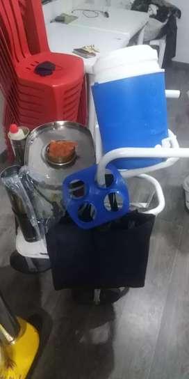Carrito para venta de vevidas calientes/frias