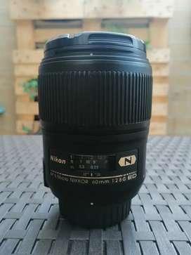 Lente Macro Nikon. 60 mm, f/2.8G ED