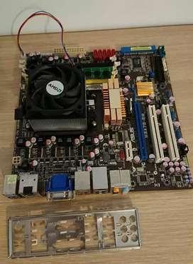 Mother  con procesador phenom x3 2.1ghz