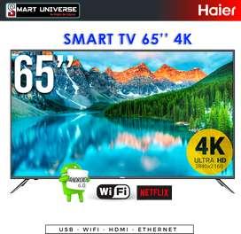 Tv 65 Haier 4k Smart Tv Android Netflix Youtube Uhd Wifi