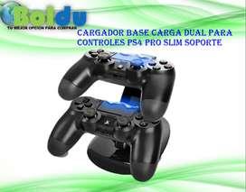 Cargador Base con Carga Dual Para Controles Ps4 Pro Slim Soporte