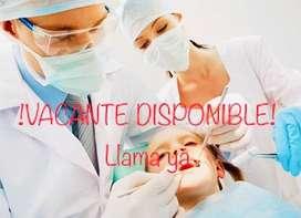 OFERTA LABORAL, se necesita odontóloga en el sur de Bogotá