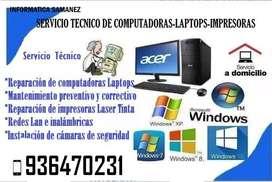 servicio tecnico de computadora,laptop,redes y impresoras
