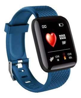 Smartwatch plus reloj inteligente banda deportista smartband presión arterial, ritmo cardíaco whatsapp twitter facebbok