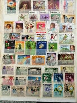 Vendo estampillas de billetes antiguos