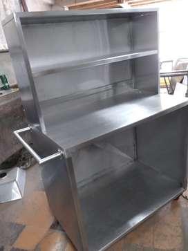 Mesón de trabajo - mesón de cocina industrial en acero inoxidable