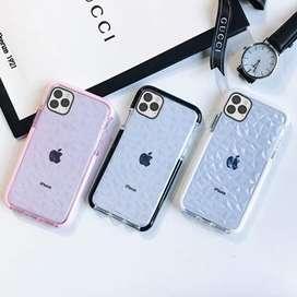 KUMTZO Carcasa para iPhone 11 Pro Max, transparente, delgada, con patrón de diamantes, suave, TPU, antiarañazos, a prueb