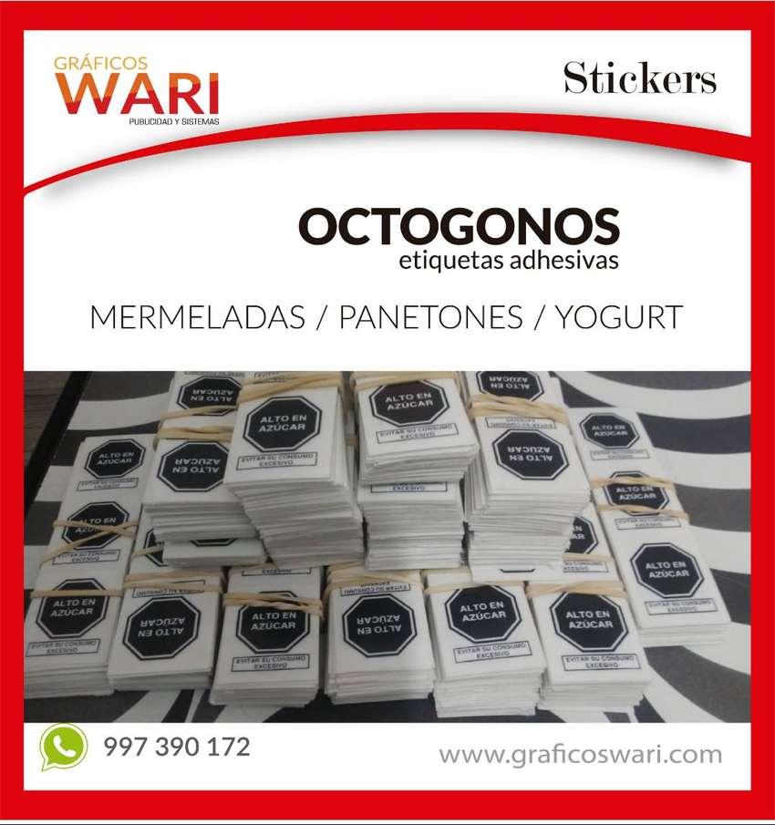 impresion de octogonos - stickes en lima - imprenta 0