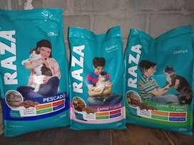 Alimento para gatos Raza