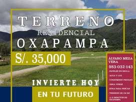 VENTA DE TERRENO EN CONDOMINIO RESIDENCIAL - OXAPAMPA