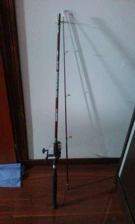 Caña de pescar Carrick 2102 + red de mano