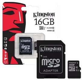 TARJETAS DE MEMORIA KINGSTONG SD  16GB