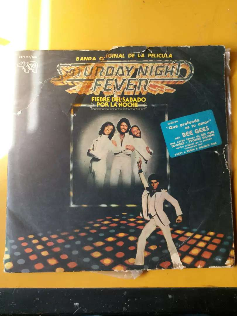 Vinilo LP Doble Saturday Night Fever Bee GEES 0
