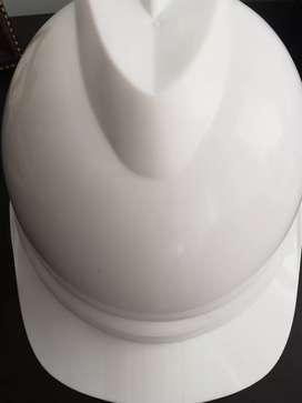 Casco dieléctrico seguridad industrial Blanco