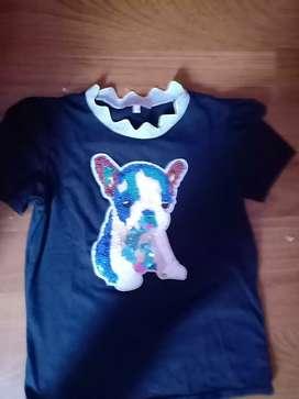 Camisa para niñas perrito