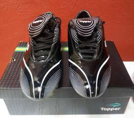 Botines Topper Shoot Star Tf Negro/blanco