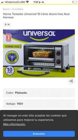 Horno inox marca universal de 10 libras