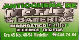 ANTIOQUEÑA DE MOFLES Y BATERIAS.Reparacion, venta e instalación de sistemas de escape todo vehiculo