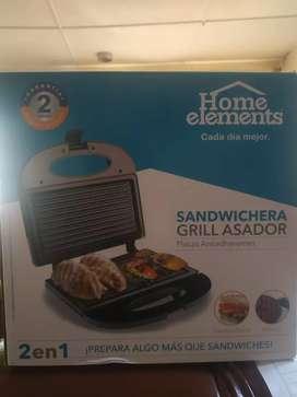 Sandwichera grill asador
