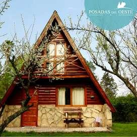 Cabañas en Gral Rodriguez con Piscina - Alquiler cabaña fin de semana - Posadas del Oeste - Turismo rural