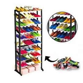 Zapatero de 10 niveles para 25 pares de zapatos
