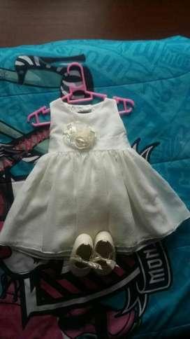 Vestido de Bautizo para Bebita