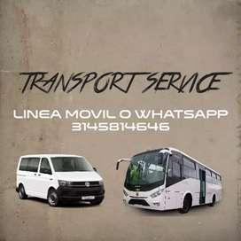 Servicio de transporte viajes