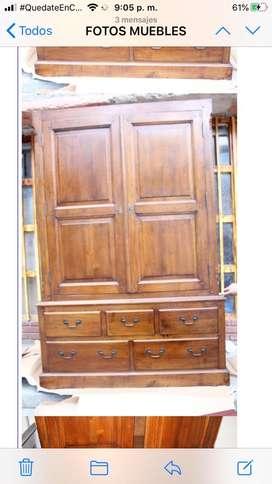 Armario antiguo macizo madera importado