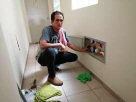Gasfitero a domicilio en Miraflores.. Cambio de sistemas de water. Desatoros de desagüe..