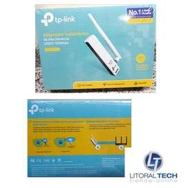 Placa de red WIFI USB. 150 Mbps Tp-Link con antena