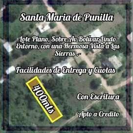 Vendo lote en Santa Maria de Punilla con Escritura