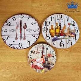 Reloj Madera Pared Restaurante Café Vintage Bar Hogar Grande PEqueños