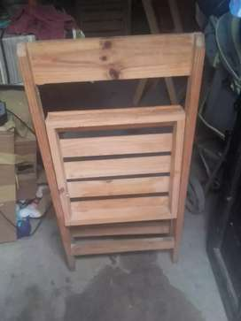 6 sillas plegables de madera