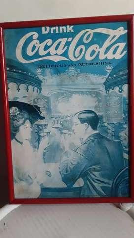 Antiguo afiche de Coca Cola