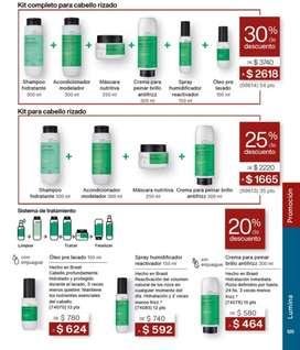 PROMOCIÓN NATURA: 30% de descuento en kit completo para cabello rizado Lumina