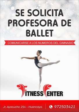 se necesita profesora de ballet
