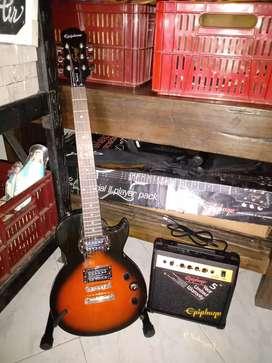 Guitarra electrica marca Epiphone special model con Amplificador