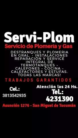 Servicio de plomería y gas