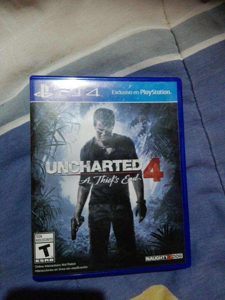 Vendo Uncharted 4, para Play 4 0
