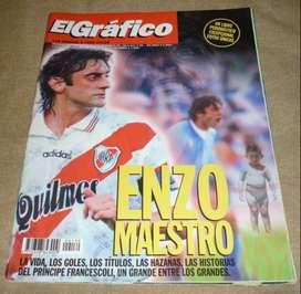 ANTIGUA REVISTA EL GRAFICO EXTRA 139 ENZO MAESTRO . FRANCESCOLI SE RETIRA DEL FUTBOL 1998 RIVER