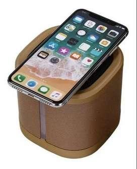 Parlante Bluetooth Cargador Inalámbrico Inductiva P/celulares